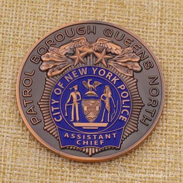 Pièce de défi de police faite sur commande de New York City Metal à vendre
