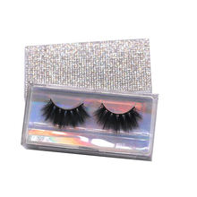 CH07L Hitomi custom eyelash packaging box Private Label Cruelty Free Synthetic Eyelashes 4d Faux Mink Eyelashes