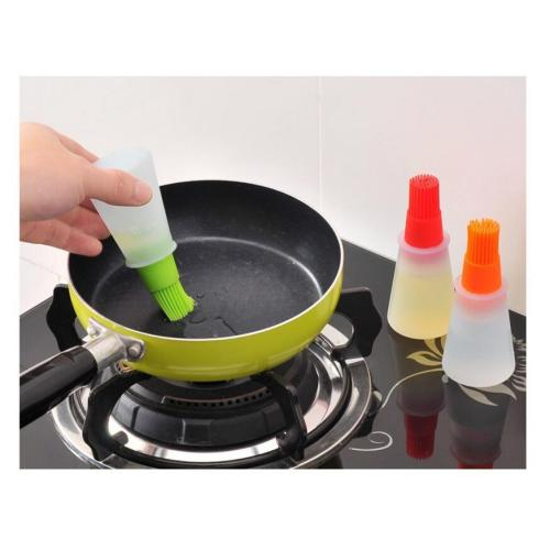 Alat BBQ Pengontrol Minyak Basting Silicone Grill Brush