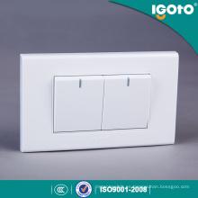 Igoto A1021 Fabricado en fábrica American Standard 118 * 75mm 2 Gang 1 Way Switch 2 Gang 2 Way Switch