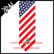 Mens Bespoke alle handgemachte Private Label Silk Print Masonic Krawatte