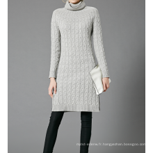17PKCS355 2017 tricot laine Cachemire tricoté chandail de dame