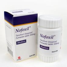 Nofoxil Ténofovir Disoproxil Fumarate Tablet 300mg 30 comprimés pour Anti-VIH