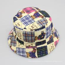 Оптовые плюшевые медвежьи печати смешные шляпы ведро для детей