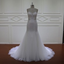 Xf1071 Exquisite Simple Beaded Wedding Dress