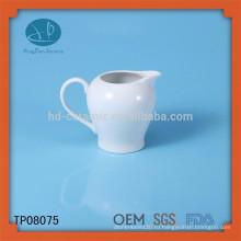 Высококачественный белый керамический молочный горшок, заказная керамическая банка, бутылка с водой