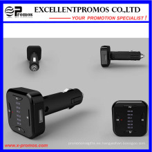 2016 nuevo diseño manos libres Bluetooth FM transmisor con cargador de coche USB doble