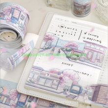 Artistic Scenery Designs Masking Tape of Hand Book Decoration