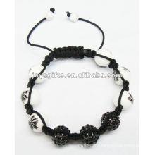 beat jewelry bracelet ,handmade woven shamballa crystal balls bracelet