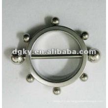 Moda de acero inoxidable pezón escudo no piercing nipple barbell