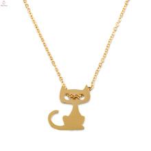 Пользовательские Подарок Персонализированные Золото Лакомство Первоначального Кошка Шарм Ожерелье