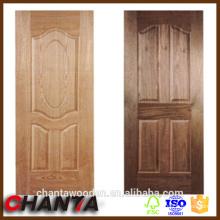 Pele de madeira da porta do folheado com preço de pele competitivo da porta, pele da porta do hdf