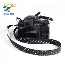 Nouveau style personnalisé d'impression noir et blanc point d'ondelette personnalisé en coton caméra sangle