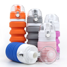 Customized Portable Food Grade Customized Logo Color Silicone Drinking Cup Retractable Folding Outdoor Water Cup