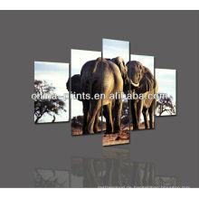 Afrikanischer natürlicher Elefant druckte Ölgemälde