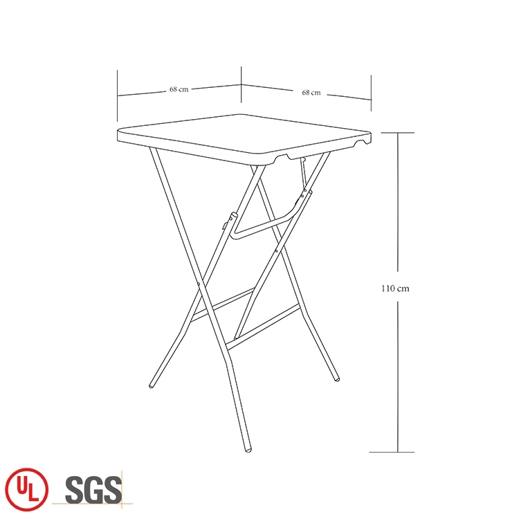Small Down Steel Folding Table