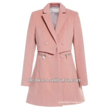 Korean Fashion High Quality Girl's Pink Trench Coat