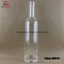 750ml garrafa de vidro redondo com base grossa (impressão de impressão de tela impressa)