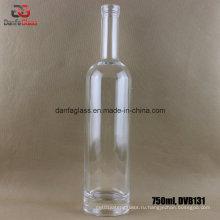 750 мл круглая стеклянная бутылка с толстым основанием (этикетка для трафаретной печати для печати)