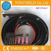 Soudage au gaz argon soudure torche tig WP-17V gaz et câble entier 8M