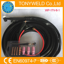 argon gas welding weldcraft tig torch WP-17V gas and cable whole 8M