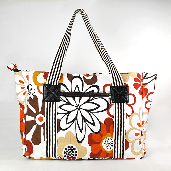 Vivid friendly canvas tote bag with pockets