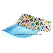 Transparente PVC Bill Visor Cap Clear Mode Sonnenblende UV Schutz Kunststoff Visier