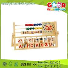 Brinquedos de madeira de segurança contando o jogo quadros coloridos quadro