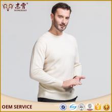 Taille personnalisée Erdos couleur crème 100% Cachemire Pull avec prix de gros