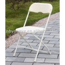 Silla plegable de plástico blanco