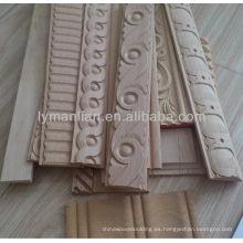 Moldura decorativa de pared interior de madera maciza