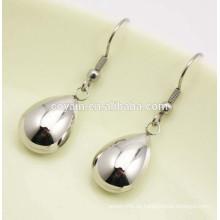 316L Edelstahl lange Silber Wassertropfen baumeln Ohrringe für Frauen