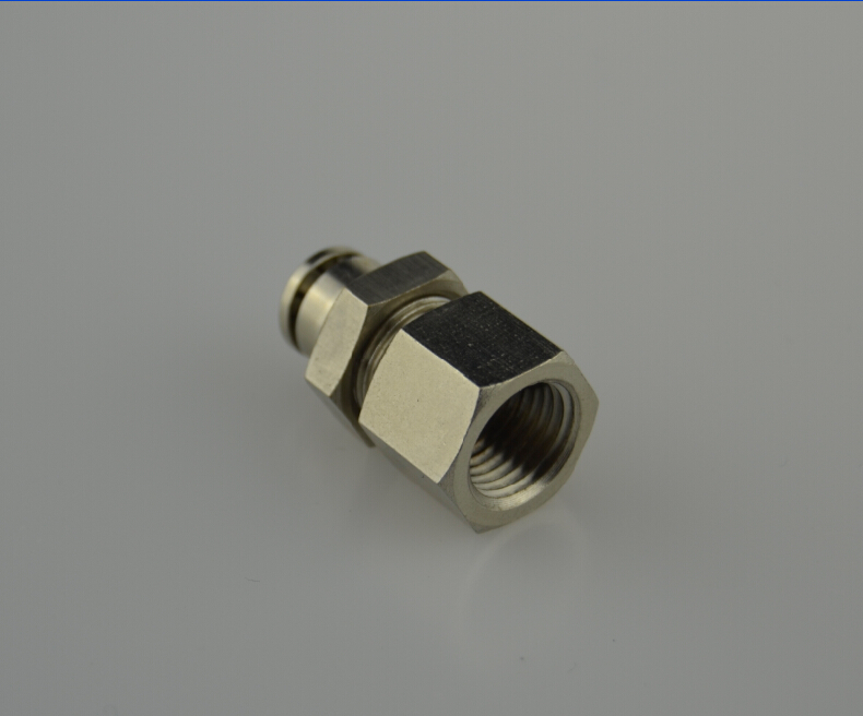 AJPMF Brass Push-To Connect Fittings Bulkhead Female