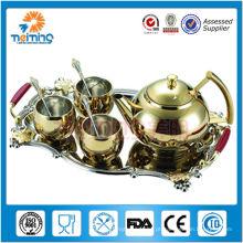 Jogo do potenciômetro de chá 8pcs (dourado)
