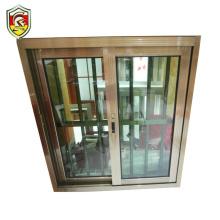 Latest modern home used burglar proof aluminium frame sliding window with balcony steel grill designs