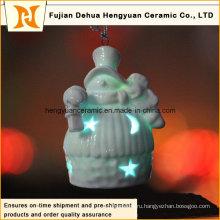 Рождественский снеговик формы светодиодные солнечные фонари для елки Декор