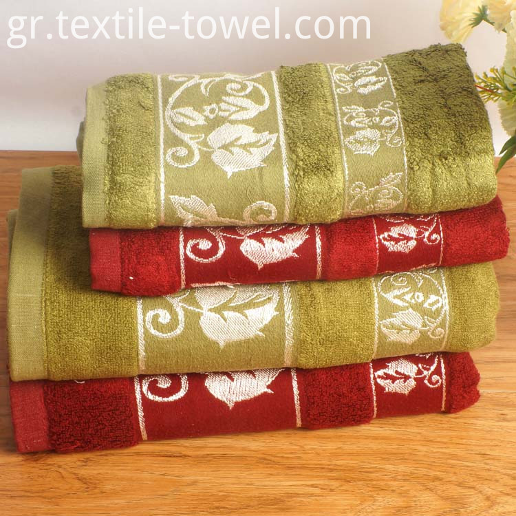 Solid Color Bamboo Bath Towels