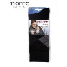 Miorre Wholesale Sweat-absorbent Plaid Pattern Winter Men Wool Socks
