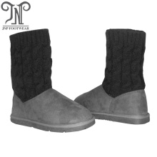 Kids toddler childrens grey long boots with socks
