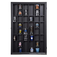 17x21 High Quality Custom Black Shot Glass Hinged Frame Home Decor 3D Shadow Box Display Case