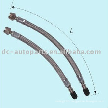 Rubber hose extension with fine-meshed metal all length available
