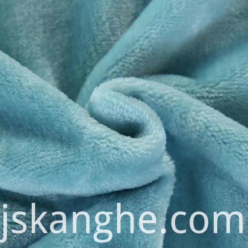 Pure polyester knitted flannel