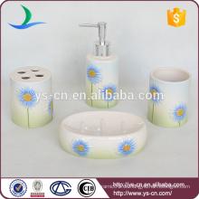 2014 Schöne Farbverlauf Blaue Blume Keramik Geschenk Bad Set