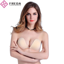 Warna Solid Strapless Silicone Tak Terlihat Stick On Bra