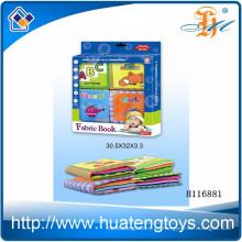 El libro suave del paño del bebé educativo al por mayor para la cama rodeó H116881
