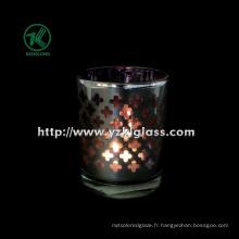 Coupe de bougie en verre à double paroi couleur par SGS (KLB100408-29)