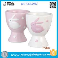 Wholesale Easter Bunny Ceramic Egg Cups for Childern
