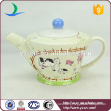 Simple Style Ranch Decal Ceramic Tea Pot For Home