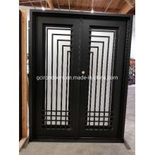 Porta de aço com design elegante popular para casa de luxo