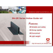 Guia de fabricantes de trilho trilho-guia /Hollow / trilho de guia para elevador / peças do elevador